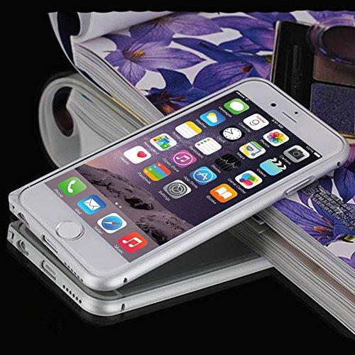 iPhone 6 Plus Bumper Case,Dteck(TM) Ultra Slim Premium Luxury Aluminum Metal Hard Blade Frame Cover Case[Aeronautical Material][Shock Absorbent][Easy-lock] for Apple iPhone 6 Plus 5.5 inch (Silver)