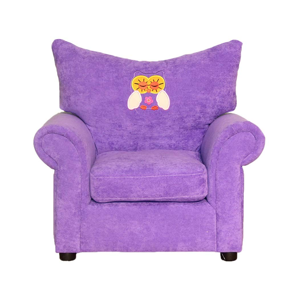 Children's Sofa Cartoon Cute Environmentally Friendly Fabric Lazy Couch Chair Kindergarten Seat Home Child Chair (Color : Purple)