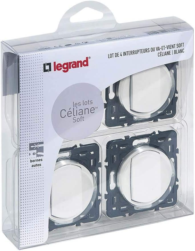 250V Legrand C/éliane Coloris Blanc 099720 Interrupteur Mural