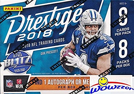2018 Panini Prestige NFL Football EXCLUSIVE Factory Sealed Retail Box with  AUTOGRAPH or MEMORABILIA Card! Look for Rookies   Auto s of Baker Mayfield 85b824b3c