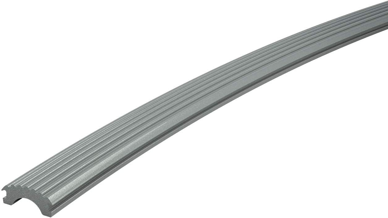 Champagne Silver Anodized Aluminum 1.6 Round for Promenaid Handrail System Only 4 ft Handrail Tubing with Anti-Slip Insert