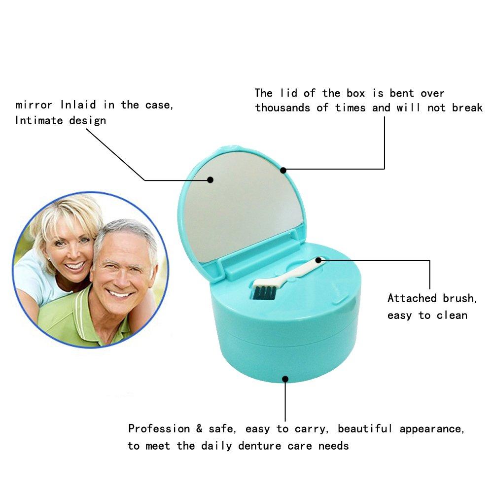 KNONGMAYI Easy Carry Waterproof Invisalign Retainer Denture Bath Appliance Denture Case by KNONGMAYI (Image #2)