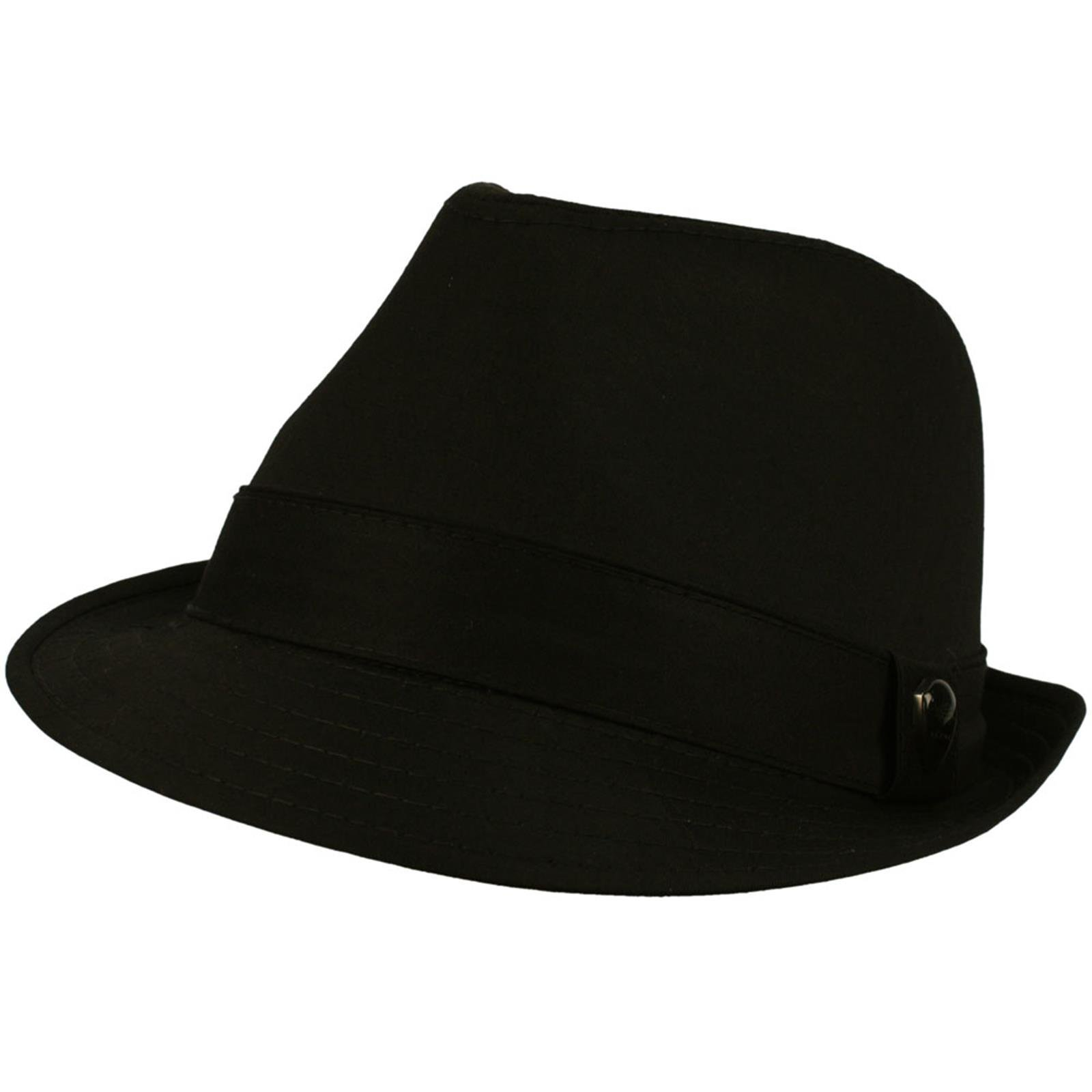 Men's 100% Cotton Summer Cool Solid Blank Fedora Derby Trilby Hat