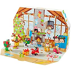 Tsum Tsum Disney Countdown to Christmas/Winter Snow Advent Calendar Playset With 30 Holiday Themed Figures And Accessories, Great Gift Idea