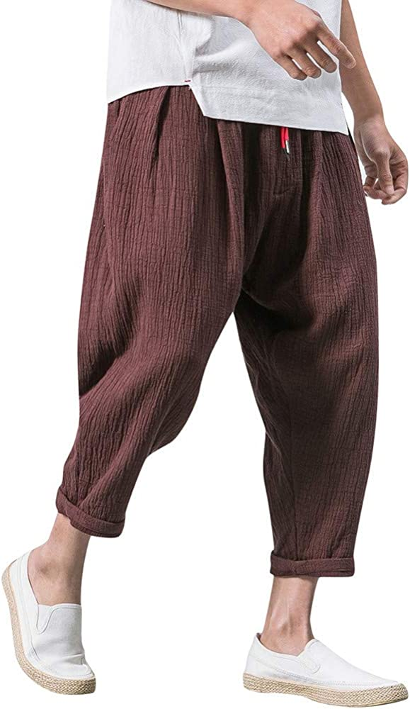 Amlaiworld Pantalones de Hombre con Bolsillo Pantalones Cortos de ...