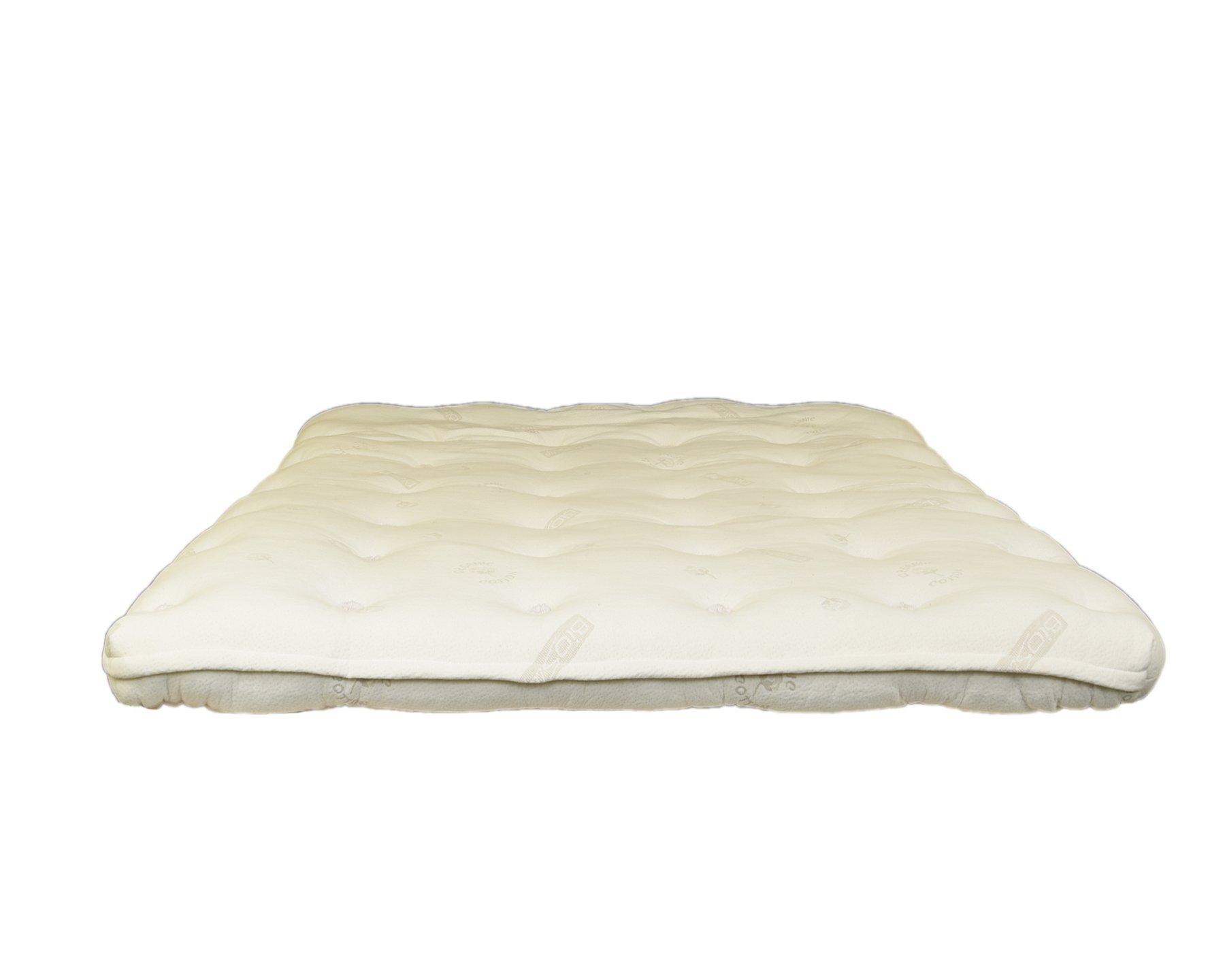 BIO SLEEP CONCEPT Heavenly 4-inch Latex and Wool Mattress Topper (King) by BIO SLEEP CONCEPT