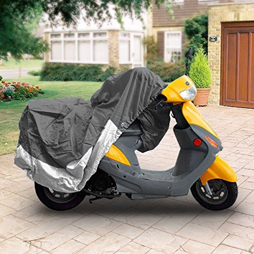 """Superior Travel Dust Motorcycle Scooter Moped Cover Covers : Fits Up To Length 80"""" - All Scooter + Mopeds - Yamaha Honda Suzuki Kawasaki Ducati Bmw Aprilia Triumph Buell Motorcycle Covers"""