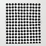 Society6 Black and white minimal paint brush painterly dots polka dots minimal modern dorm college painting Throw Blankets 88'' x 104'' Blanket