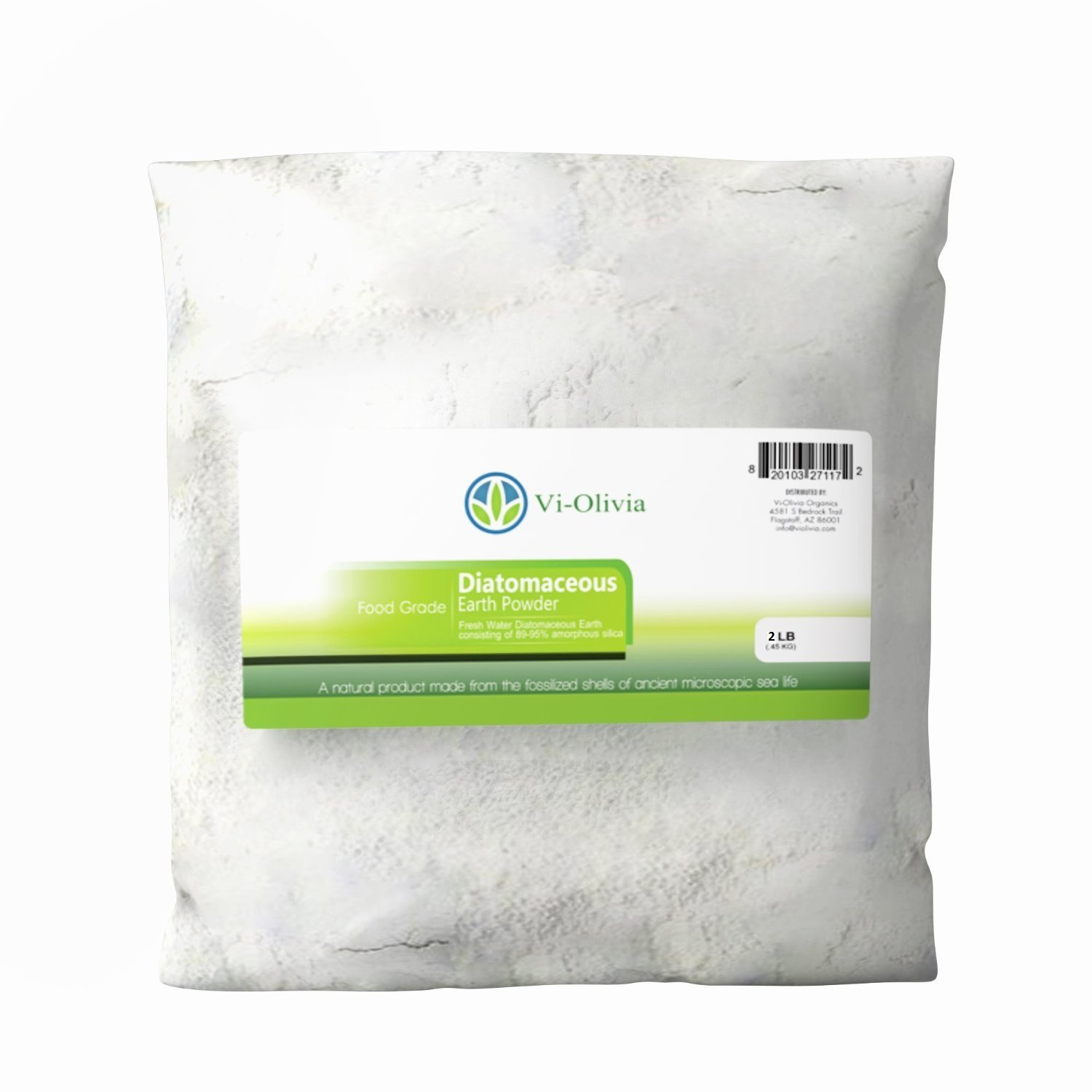Food Grade Diatomaceous Earth - 2 Pound - Non-Toxic Organic, Powder-Safe for Humans, Dogs and Cats