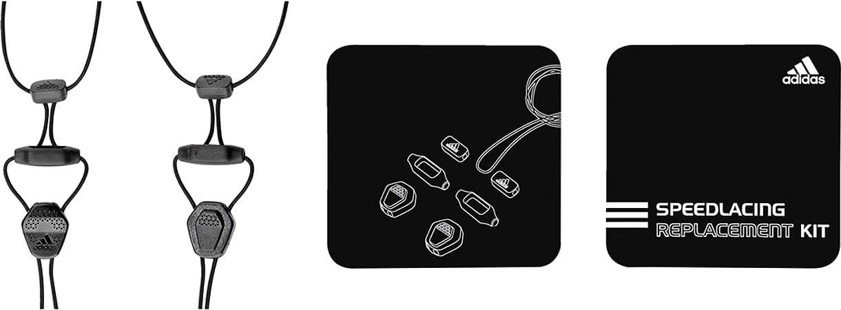 Aparentemente hecho Desbordamiento  adidas Speed Lacing Replacement Kit - Black, One Size: Amazon.co.uk: Sports  & Outdoors