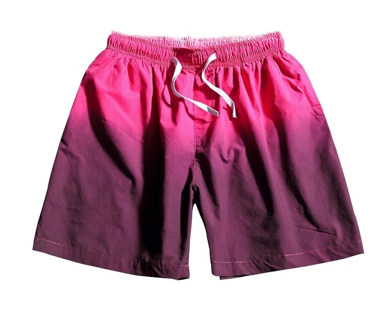 Slark Mens Comfort Elastic Waist Gradient Color Short