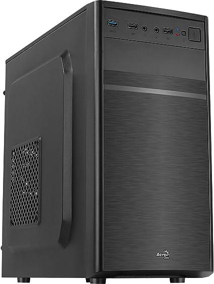 Aerocool CS103, caja de PC Micro ATX, aluminio pulido, ventilador ...