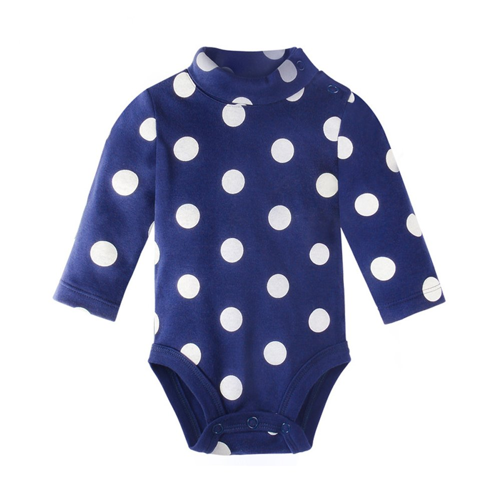 510d14188141 Amazon.com  ALLAIBB Baby Boy Collared Bodysuit Long Sleeve Onesies ...