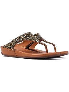1384febb57e2 FitFlop Womens Banda Roxy Embellished Thong Sandal