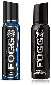 Fogg Force Body Spray, 120ml and Fogg Marco Body Spray For Men, 150ml
