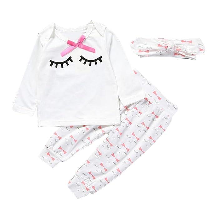 Vestidos niñas, Switchali Infantil Recién nacido Bebé Niña moda Pestaña manga larga bowknot Camisetas +