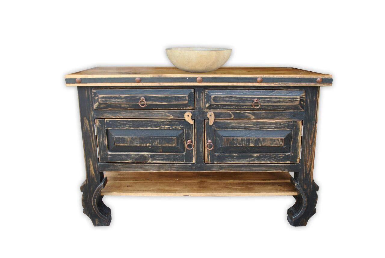 San Nicolas 48'' Rustic Vanity, Vintage Black by Rancho Collection