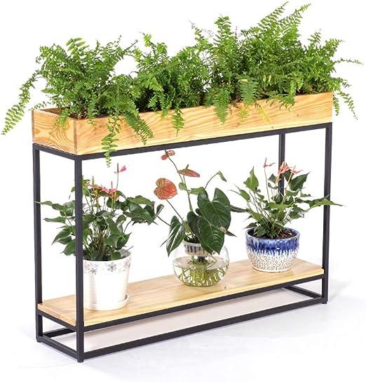 JKL-Soportes para Plantas Soporte de Flores de Madera Maciza ...