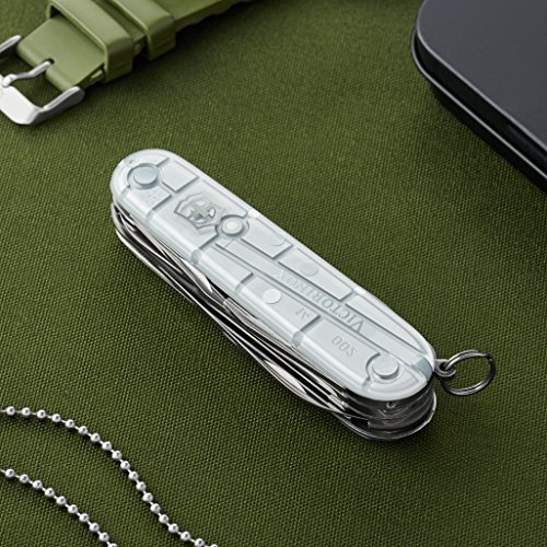 Victorinox Swiss Army Huntsman Pocket Knife, Silver Tech,91mm by Victorinox (Image #2)
