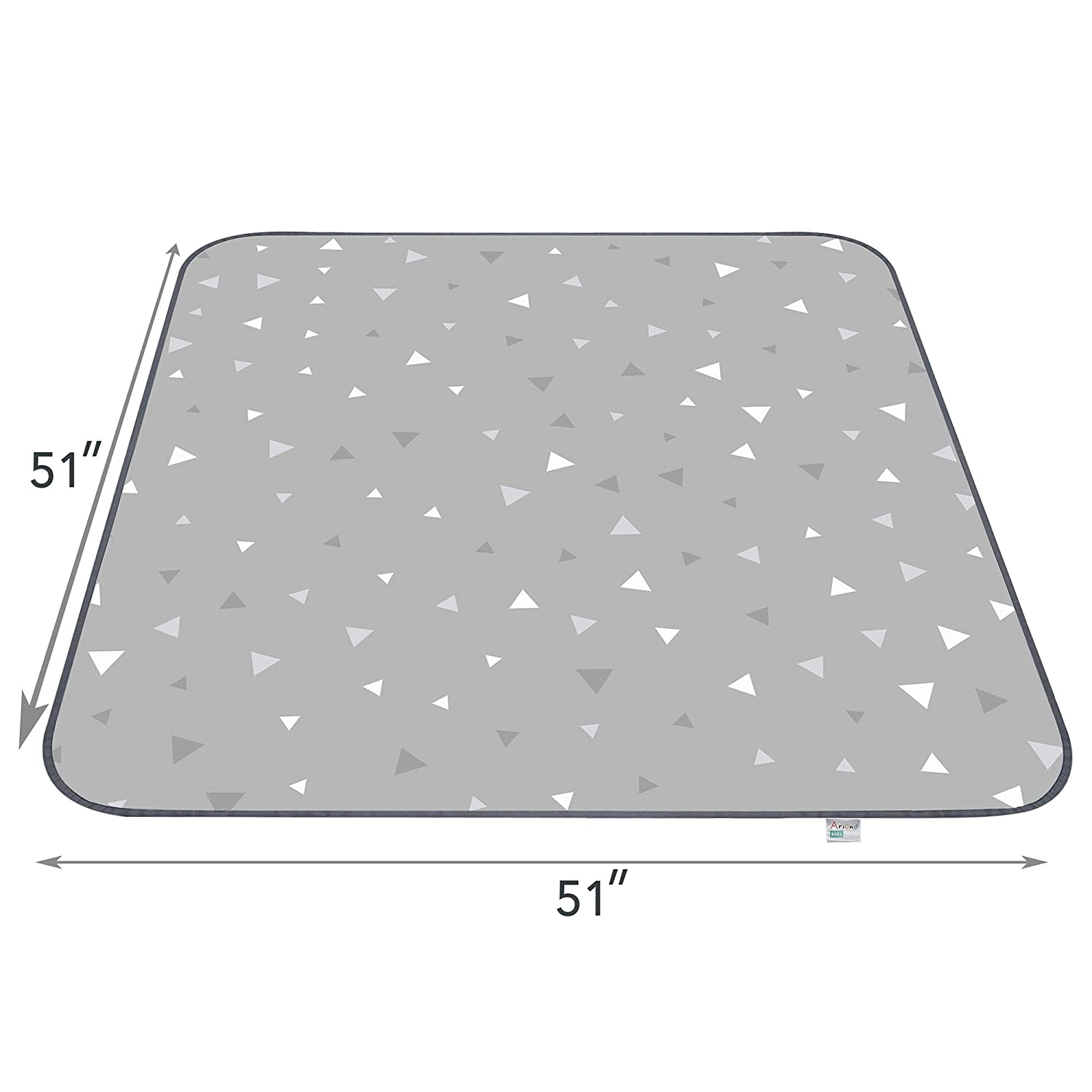 "Portable Feeding Mat,Grey Play Mat and Table Cloth for Art//Crafts Anti-Slip Floor Splash Mat Ariond Kids Washable 51/"" Waterproof Splat Mat for Under High Chair"