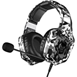 VersionTECH. Gaming Headset - Updated K8 Headset Gaming for PS4 New Xbox One, Stereo Over-Ear Headphones with Noise-canceling Microphone & LED Lights for PC Computer Mac Laptop Nintendo Switch