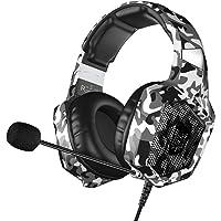 VersionTECH. Auriculares Gaming Cascos PS4 con Microfono, Diadema Ajustable, Bass OverEar 3,5mm Jack, Luz LED, Control…