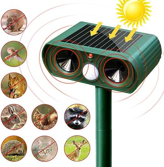 SunTop Solar Auyentador para Gatos, Repelente ultrasónico para ...