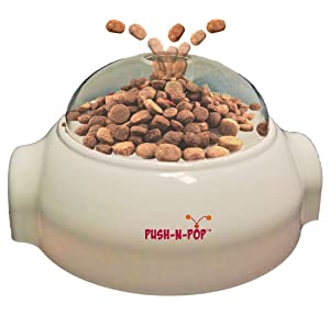 SPOT Advanced Slow Feeder for Dogs Push N' Pop - Interactive Slow Feeding Dog Food Dispenser for Large and Small Breads - Award Winning - Mental Stimulation, Entertaining, Durable Dog Feeder