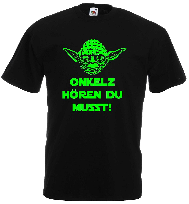 Master Yoda Herren T-Shirt Star Wars Spruch Onkelz h/ören du musst!