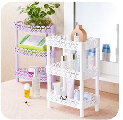 Excellent Haotfire Plastic Small Storage Shelves Plastic Basket Square 3 Layers Desk Stand Rack Bathroom Shelves For Home Household Kitchen Interior Design Ideas Lukepblogthenellocom