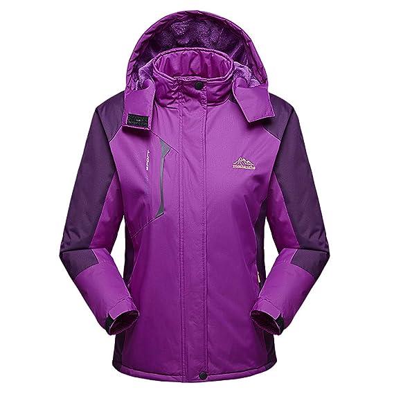 Malloom Chaqueta para Mujeres para Deportes Esquí Invierno Abrigo Impermeable Chaqueta de Nieve a Prueba Viento: Amazon.es: Ropa y accesorios