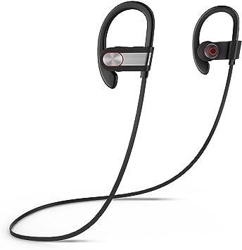 Honstek H9 Bluetooth 4.1 Deportes Auriculares de los con micrófono / de la gimnasia, funcionamiento, basculador, Senderismo, ejercicio para el iPhone, Samsung, Galaxy, teléfonos Android, Bluetooth Smart TV (Negro/Gris): Amazon.es: Electrónica