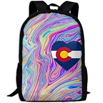 Amazon com: Backpack Colorado Rainbow Flag Abstract Art Womens