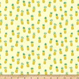 Dear Stella Designs Dear Stella Jersey Knit Pineapples Fabric by the Yard, Lemon