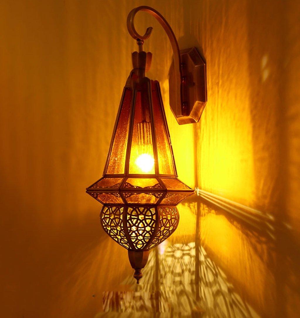 屋内用壁面ライト ウォールランプ - ヨーロッパのバルコニーアイルウォールランプホテルコリドー内装フル銅工芸ウォールランプ(26cm * 64cm) [エネルギーレベルA ++] B07RQ8P7ZW