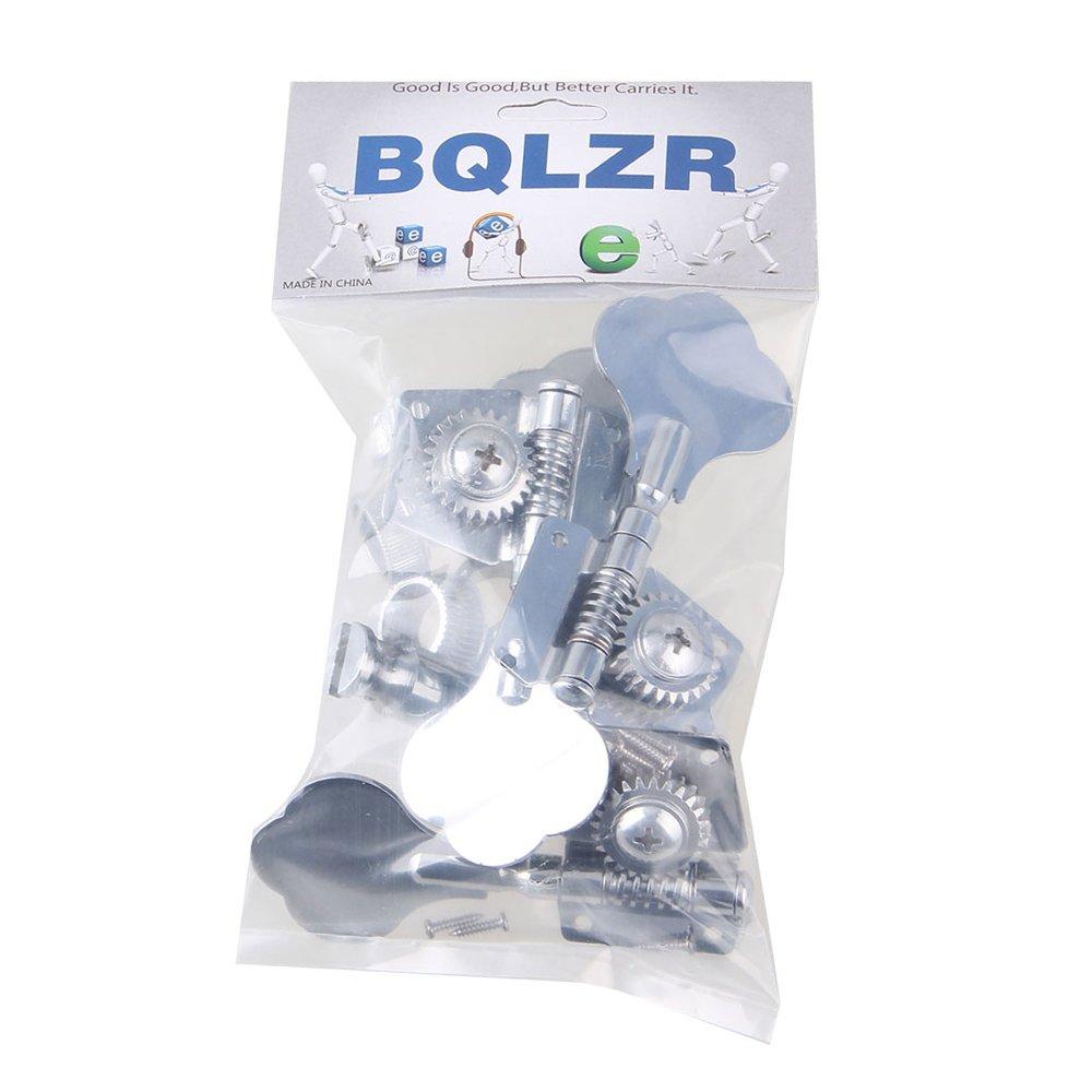 BQLZR Tuners Machine Heads 4R Chrome Bass Guitar Big Button Tuning Keys Pegs Pack of 4 BQLZRN01368
