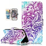 iPhone 6S Plus Case,iPhone 6 Plus Case, Dooge Cameo Design [Kickstand Feature] Premium PU Leather Flip Wallet Case with ID&Credit Card Pockets Cash Clip, Magnetic Closure for iPhone 6S Plus/6 Plus