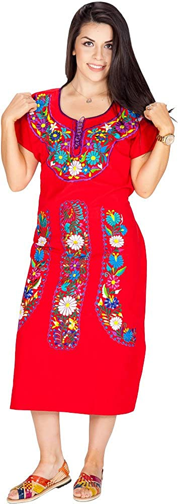 A&C Vestido Tipica de Mexico. Traditional Mexican Female Wear. at Amazon Womens Clothing store: