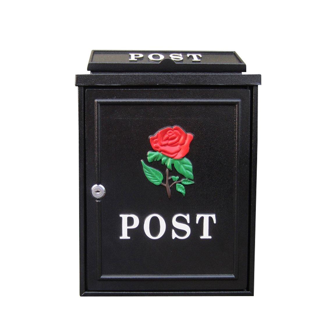 TLMY ヨーロッパのレターボックス屋外雨水ヴィラのメールボックスの壁掛けロックポストボックス大きな農村創造的なレターボックス メールボックス   B07QBF85WF