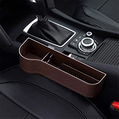 Car Seat Gap Organizer, Multifunctional with Cup Holder, Storage Box, Fit for Most Cars (Brown, Driver Seat): Car Electronics [5Bkhe1504380]