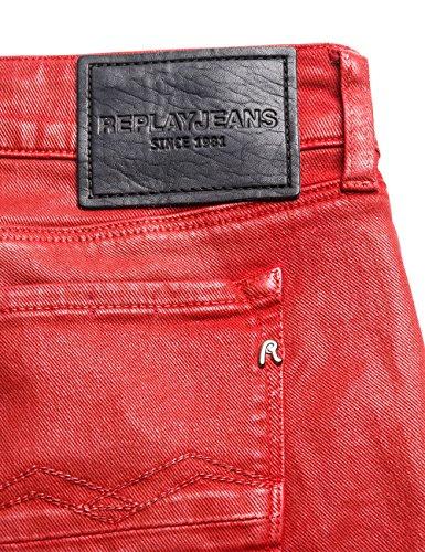 Replay Brigidot, Jeans Mujer Rojo (Red 50)