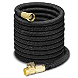 SUUKAA 50ft Garden Hose 3 Times Expandable Lightweight Magic Hose With Durable Latex Core,3/4 Brass Solid Connector,Great for Car Washing,Garden Watering,Dog Bathing