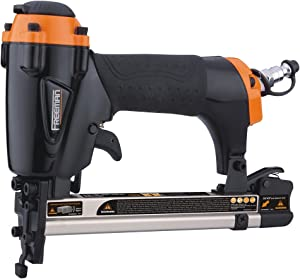 """Freeman PFWS Pneumatic 20-Gauge 9/16"""" Fine Wire Stapler Ergonomic and Lightweight Nail Gun with No Mar Tip For Screens, Upholstery, and Crafts"""
