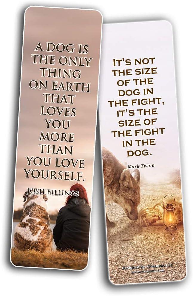 Creanoso Lot de 12 marque-pages pour chien avec citation et promesses de chien Cadeaux pour f/ête danniversaire pour les amateurs de chiens