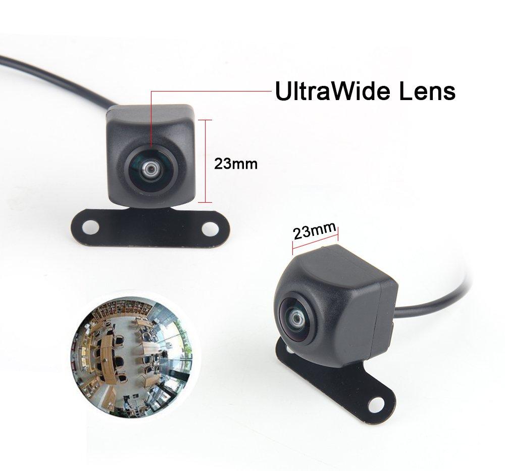 Dasaita 170/° Angle HD Fisheye Lens Reversing Camera for Universal Rear View Backup Cams Back up Rearview Cams Reversing Parking Kit 662