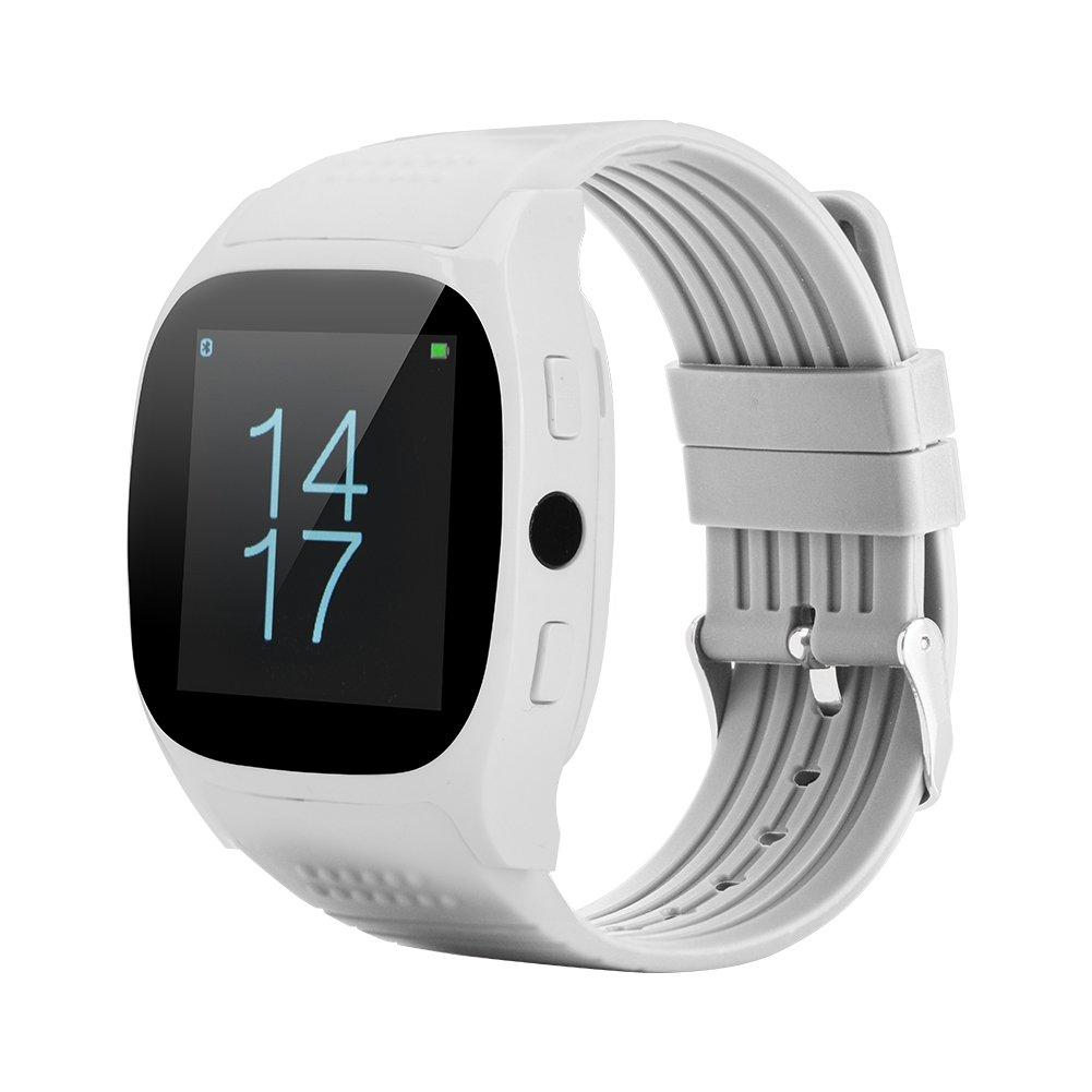 Vbestlife MY-T8M Reloj Inteligente Pulsera Impermeable Monitor de Sueño/Monitor de Ritmo Cardíaco,Contador de Caloría,Podómetro de Actividad(Blanco)