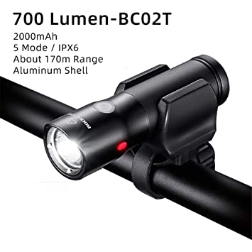 Recargable Linterna de la luz de 700 lúmenes MTB Banco de ...