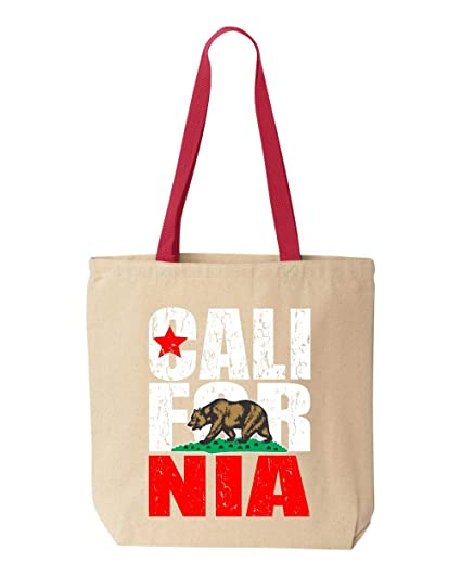 9310f2c58a67 Amazon.com  Shop4Ever California Bear Flag Vintage Cotton Canvas ...