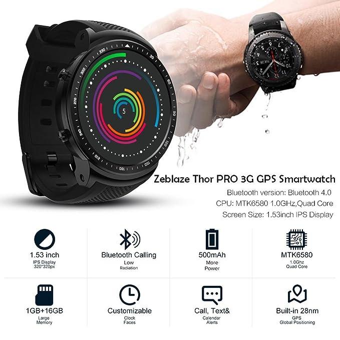 Amazon.com: iBelly Zeblaze Thor PRO SmartWatch Fitness Watch ...