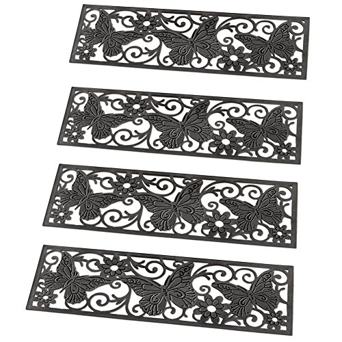 Decorative Butterfly Scroll Rubber Treads